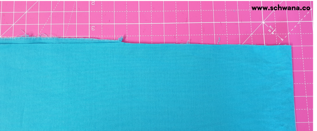 How to fold the fabric to help you cut a clean, straight line.