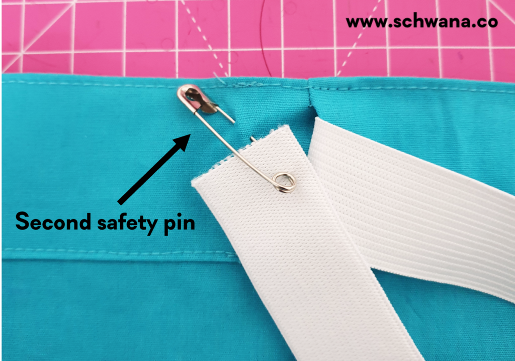 How to attach the second safety pin.